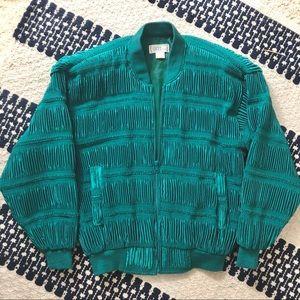 Vintage 80's Green Bomber Jacket